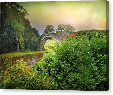Canvas Print featuring the photograph The Morning Bridge by Roy  McPeak