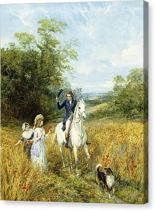 The Morning Ride Canvas Print by Heywood Hardy
