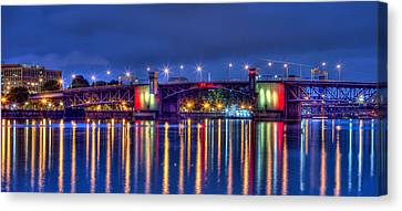 Canvas Print featuring the photograph Morrison Bridge - Pdx  by Thom Zehrfeld
