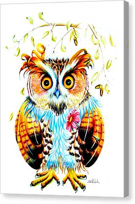 Visual Creations Canvas Print - The Most Beautiful Owl by Isabel Salvador