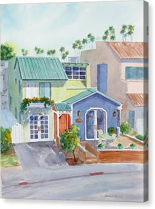 The Most Colorful Home In Belmont Shore Canvas Print by Debbie Lewis