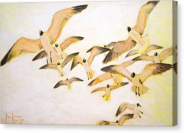 The Most Glorious Birds Canvas Print by Ron Richard Baviello
