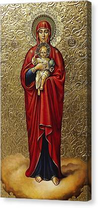 Russian Icon Canvas Print - The Mother Of God Of Valaam by Fr Barney Deane