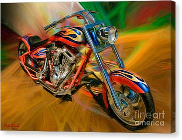 The Motorcyclerow Canvas Print by Blake Richards