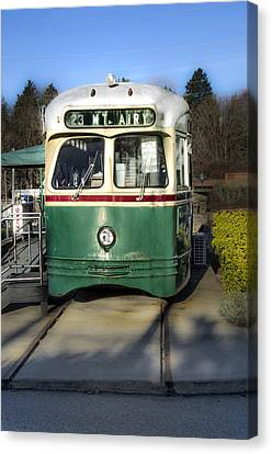 The Mount Airy Trolley Car Diner Canvas Print by Bill Cannon
