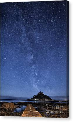 The Mount And The Milkyway Canvas Print by John Farnan