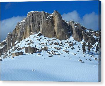 Canvas Print featuring the photograph The Mountain Citadel by Michele Myers