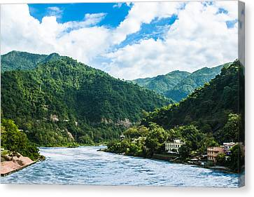 The Mountain Valley Of Rishikesh Canvas Print