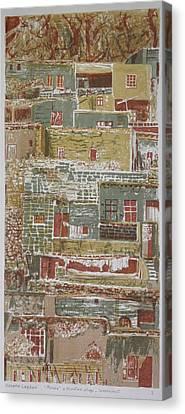 The Mountain Village Canvas Print