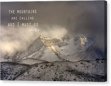 The Mountains Are Calling And I Must Go  John Muir Vintage Canvas Print by Guido Montanes Castillo