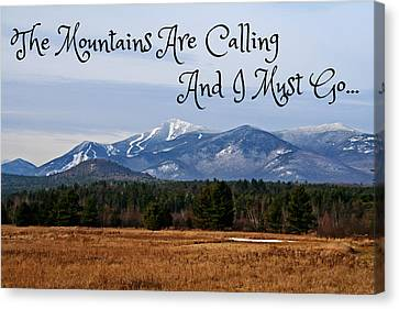 Rural Scenery Canvas Print - The Mountains Are Calling by Heather Allen
