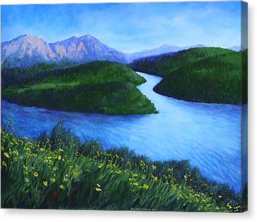 The Mountains Beyond Canvas Print by Penny Birch-Williams