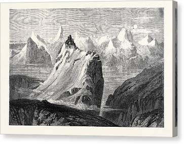 Collingwood Canvas Print - The Mountains Of The Oberland From The Faulhorn by Collingwood Smith, William (1815-1887), English