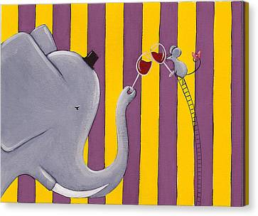 The Mouse And The Elephant Canvas Print by Christy Beckwith