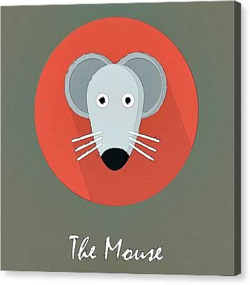 The Mouse Cute Portrait Canvas Print by Florian Rodarte