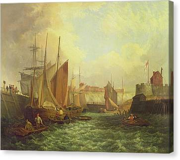 The Mouth Of The Yare, 1821 Canvas Print by George Vincent
