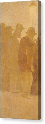 The Mouthful Of Bread, Waiting In Line, Study For Charity Canvas Print