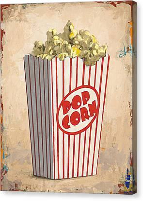 Movie Art Canvas Print - The Movies by David Palmer