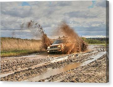 The Mud Is Flying Canvas Print