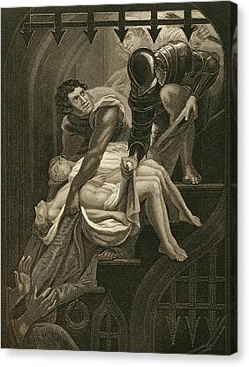 The Murder Of The Two Princes Canvas Print