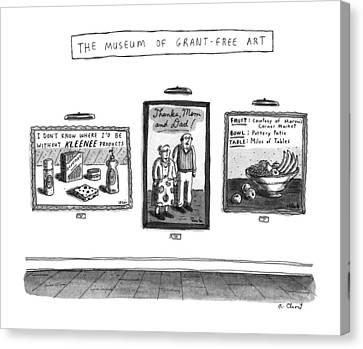 Free Canvas Print - The Museum Of Grant-free Art by Roz Chast
