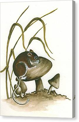 The Mushroom Mouse Canvas Print by Lori Ziemba