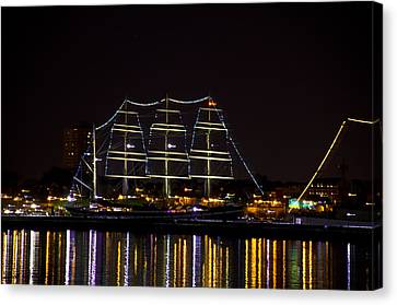 The Mushulu At Night Canvas Print by Bill Cannon