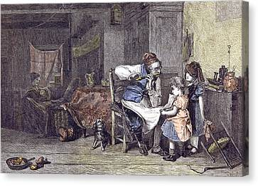 The Music Lesson J Canvas Print by English School