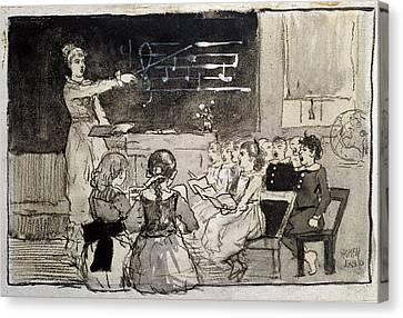The Music Lesson Canvas Print by Celestial Images