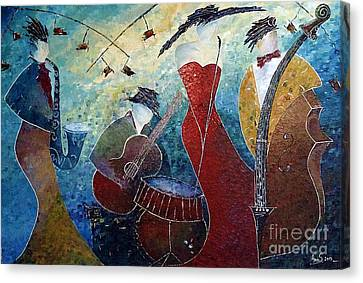 The Music Never Stopped 2 Canvas Print