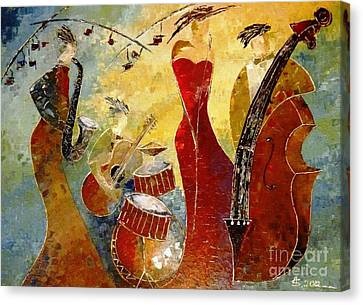 The Music Never Stopped Canvas Print by AmaS Art
