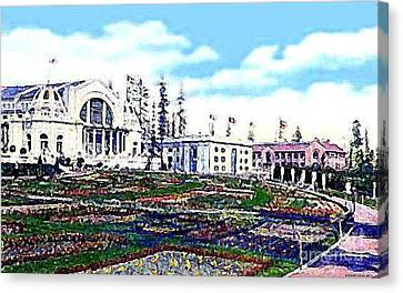 The Music Pavilion At The Alaska Yukon Expo In Seattle Wa In 1907 Canvas Print by Dwight Goss
