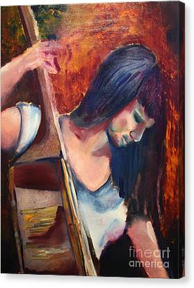 The Musician Canvas Print by Michael Kulick