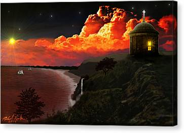 The Mussenden Temple - Ireland Canvas Print by Michael Rucker