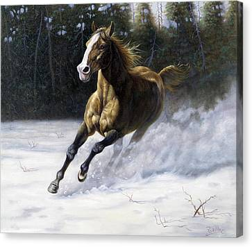 Horse Giclee Canvas Print - The Mustang by Gregory Perillo