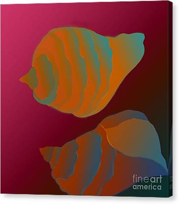 Canvas Print featuring the digital art The Mysterious World by Latha Gokuldas Panicker