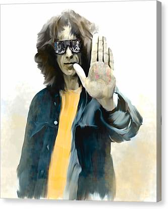 The Mystical One  George Harrison Canvas Print by Iconic Images Art Gallery David Pucciarelli