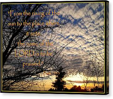 The Name Of The Lord Canvas Print by Glenn McCarthy Art and Photography