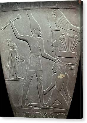 The Narmer Palette. 31st C. Bc. Reverse Canvas Print by Everett