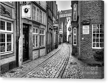 The Narrow Cobblestone Street Canvas Print by Ari Salmela