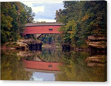 The Narrows Covered Bridge 4 Canvas Print by Marty Koch