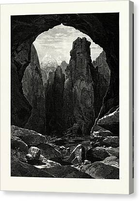 Thomas Moran Canvas Print - The Narrows, North Fork Of The Rio Virgen by English School