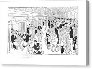 3rd Corps Canvas Print - The National Capital Concourse by Gluyas Williams