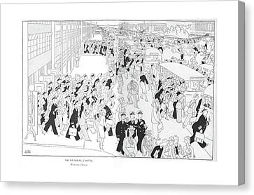 The National Capital  Homeward Bound Canvas Print by Gluyas Williams