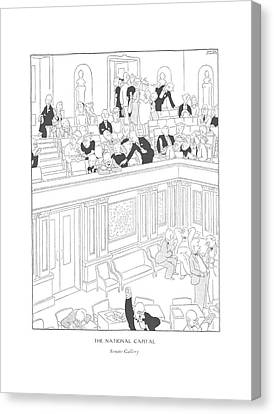 The National Capital  Senate Gallery Canvas Print by Gluyas Williams
