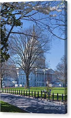 The Nations Capital Architecturally Impressive Building Canvas Print