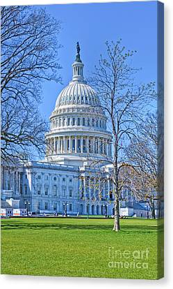 The Nations Capital Is Among The Most Architecturally Impressive And Symbolically Important Building Canvas Print