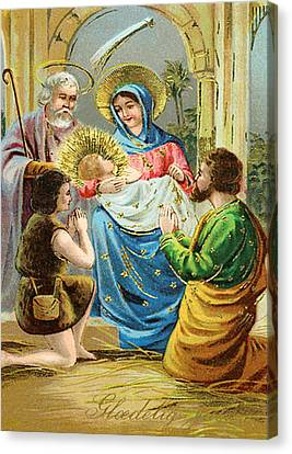 The Nativity Canvas Print by Bill Cannon
