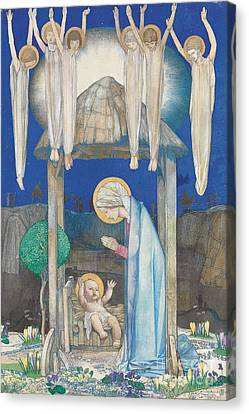 The Nativity Canvas Print by Edward Reginald Frampton