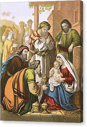 The Nativity Canvas Print by English School